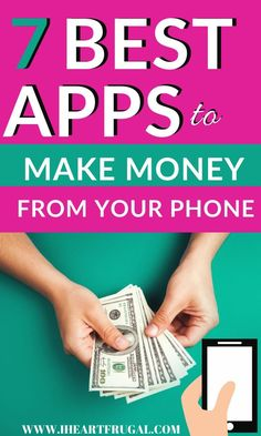 Are you looking for money tips on how to make money form your phone? Here are my seven favorite ways to make money from my smart phone. Earn Money From Home, Way To Make Money, Make Money Online, How To Make, Best Online Jobs, Online Work, Best Money Making Apps, Perfect Money, Play Money