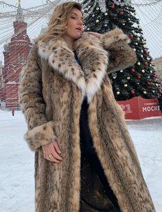 Fox Fur Coat, Fur Coats, Lynx, Mantel, Faux Fur, Sexy Women, Unique, How To Wear, Jackets