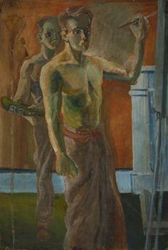 """Self-portrait"" by John Bratby, 1949"