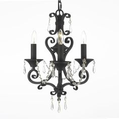 Web Cheap Price White Wrought Iron Floral Chandelier Crystal