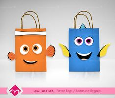 Finding Dory Favor Bags Digital Files Party Finding Nemo Gift Bags DIY