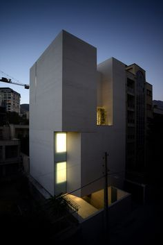 """Completed in 2016 in Tehran, Iran. Images by Ali Daghigh . The White Gallery is an architectural exercise in realigning the potentials and limitations of """"in-fill"""" typology when it comes to creating a..."""