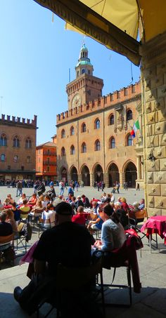 Bologna, Italy. A very underrated city: http://bbqboy.net/porticos-leaning-towers-one-coolest-churches-weve-seen-unique-sights-beautiful-bologna-italy/  #bologna #italy