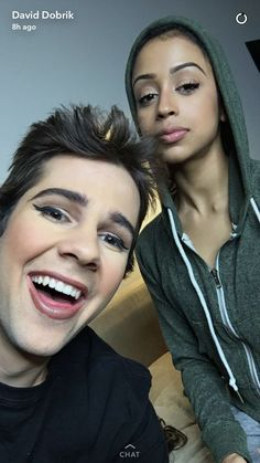 Lizza is like I killed a man and stuff and then there is David who looks like a spoiled little princess Liza Koshy And David Dobrik, Vlog Squad, Max Schneider, Brown Girl, Dan And Phil, Best Couple, Celebs, Celebrities, People Like