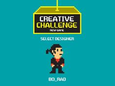 """Personal logo by bo_rad:   """"My self-portrait illustration is style of 8-bit old games. It can be great for application on business cards and website or web banner and other promo materials and ads"""""""