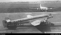 7 April 1952 - SNCASE SE.161/P7 Languedoc (F-BATB) was damaged beyond economic repair when it overran the runway on take-off from Le Bourget Airport, Paris. All 23 on board survived; the aircraft was operating an international scheduled passenger flight from Le Bourget to Heathrow Airport, London.
