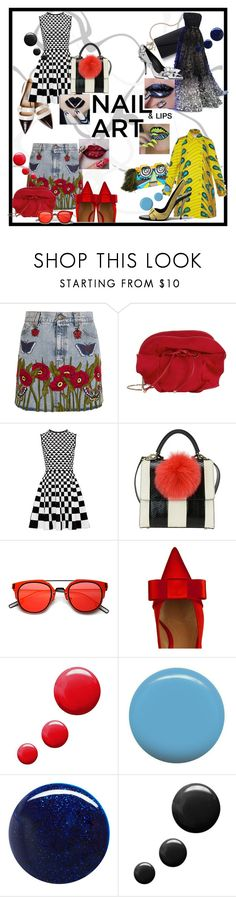 """""""#nailart #294"""" by dominique-boiche ❤ liked on Polyvore featuring beauty, Elie Saab, Gucci, Nina Ricci, Ted Baker, Les Petits Joueurs, Marni, Topshop, Jin Soon and RGB"""