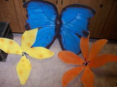 Rainforest Crafts! Tutorials for Flowers, Butterfly (MANY PICTURES) - MISCELLANEOUS TOPICS