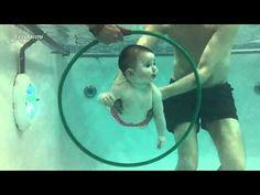 Γονείς μαθαίνουν τα παιδιά τους κολύμπι