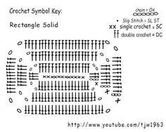 Crochet Geek : Crochet Solid Rectangle for bottom of tablet bottom