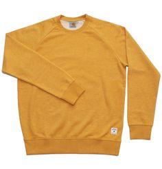 Carhartt WIP Holbrook Sweater in Mustard. £65.