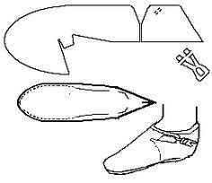 Instructions for making a Scandinavian turnshoe.