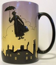 Mary Poppins Silhouette Mug This is a win-win - love coffee and love Mary Poppins!
