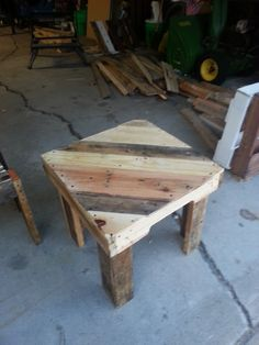 This is our classic 2 x 2 end table. Awesome for adding some life or elegance into any room. Made from upcycled pallets, this piece would also be perfect for the deck this summer or out in the grass around a bonfire. The multi-colors of the wood make it perfect for any environment. $60....buy with the matching chairs and get a discount! Email us at zen upcycled@ gmail.com for more info or to place an order!