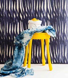 Christopher Farr Cloth Breakwater linen in Indigo
