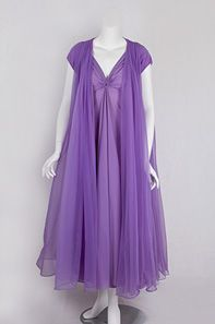 ~Lucie Ann nightgown and peignoir set, 1950s~