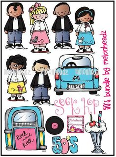 50's bundle by melonheadzdoodles on Etsy, $7.00