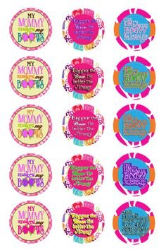 Mommy Makes My Bow Sayings 02 Digital Bottle Cap by KaylenDesigns, $1.50