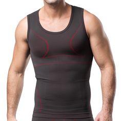 Sale 25% (17.29$) - Mens Slimming Undershirt Vest Breathable Euramerican Style Corset Abdomen Underwaist