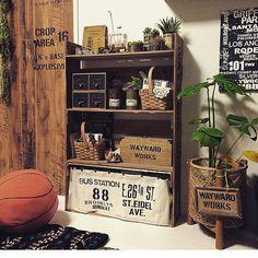 shakikoさんの、バスロールサイン,ステンシル,DIY,100均,模様替えしました☆,茶系シンプル化☆,しゃれとんしゃあ会,関西好きやねん会,棚,のお部屋写真