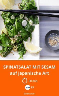 Spinatsalat mit Sesam - auf japanische Art - smarter - Kalorien: 83 Kcal - Zeit: 30 Min. | eatsmarter.de