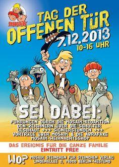 """Abrafaxe: Mosaik lädt zum """"Tag der offenen Tür"""" am 7.12.13"""