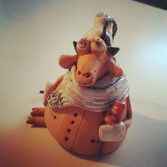 My #ceramic #bell from #NizniiNovgorod #handbell #bellcollection #ceramicbells #ceramicbell #колокольчик #коллекция