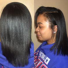 Silk press on natural hair                                                                                                                                                                                 More