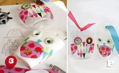 Decorate recycled plastic bottles with Owls