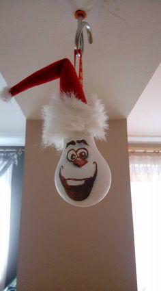 żarówka bombka choinka swieta Olaf