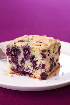 Blueberry Breakfast Cake | Cooking Classy - uses frozen blueberries so this cake can be made year round. It is so moist and delicious!