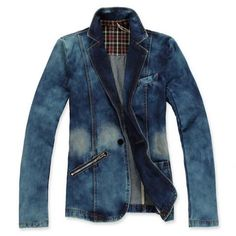 Fashionable Denim Blazer