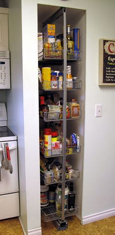 The Pantry With No Door. (Yet) Maybe Do This On The Other Side Of The  Refrigerator? Finally A Solution To No Pantry