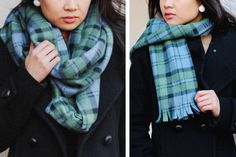 eHow: How to Make 2 Scarves from 1 Yard of Fleece
