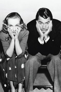 Carole Lombard and Cary Grant