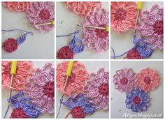 Atty's : Sunkissed Flower Tutorial...free pattern for this motif!