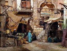 Mosque of Mohammed Bey, Cairo 1882 By John Varley Jnr. (British, 1850-1933)