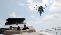 Uber delivers ice cream by drones to delighted Singaporeans   As part of its global ice cream delivery promotion, the ride-sharing company plumps for something a bit more sci-fi in the island state of Singapore.