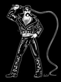 Leather, babey🖤 - Original Village People Glenn Hughes Leatherman Art by Village People, Indie, Original Art, The Originals, Leather, Fictional Characters, Fantasy Characters