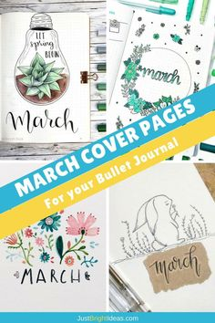 Spring is on it's way so it's time to break out the floral colours and start doodling leaves and plants. If you need some inspiration for your Bullet Journal March cover page we've got it right here!