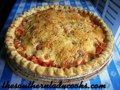 The Southern Lady Cooks: TOMATO PIE. Main dish for lunch, maybe a side at dinner?