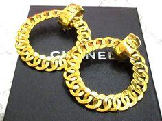 シャネル CHANEL イヤリング ココマーク チェーン リング ゴールド 【中古】 Washer Necklace, Jewelry, Jewlery, Jewels, Jewerly, Jewelery, Accessories
