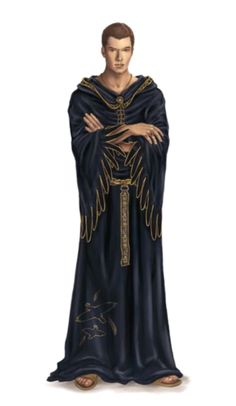 Male Human Young Wizard in Black Robes - Pathfinder PFRPG DND D&D 3.5 5th ed d20 fantasy