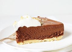 rich chocolate truffle pie - i am baker
