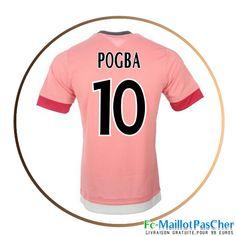 Maillot football Juventus rose POGBA 10 Exterieur 15 2016 2017