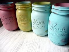 Used these jars at picnic wedding reception.
