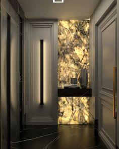 """1,311 curtidas, 66 comentários - Daiana Capuci (@daianacapuci) no Instagram: """"Não via a hora de postar esse hall incrível amoooo demais meu trabalho. Render @lucasignacio_…"""" Luxury Home Decor, Luxury Interior Design, House Extension Design, House Design, Hallway Designs, Home Remodeling Diy, Luxurious Bedrooms, Ceiling Design, Home Decor Bedroom"""