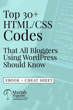 Top HTML/CSS Codes to Improve Your Website Get Your FREE EBOOK! Coding can be frustrating. I design & front-end develop for a living. If you miss one little bracket in your…
