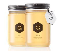"""""""Designer/ Bee Keeper (how cool is that?), Russell Gibbs created this packaging design for Gibbs Honey, a family business for over four generations."""