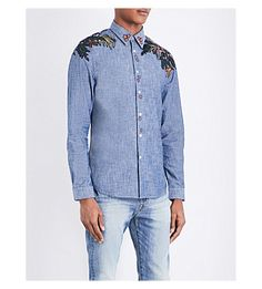PS BY PAUL SMITH Embroidered Denim Shirt. #psbypaulsmith #cloth #shirts